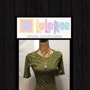 Lularoe Dress with Earth Stone Necklace